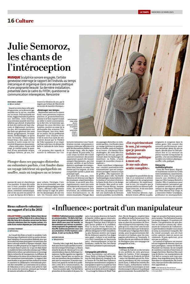 Article David Brun Lambert @LeTemps © Isabelle Meister